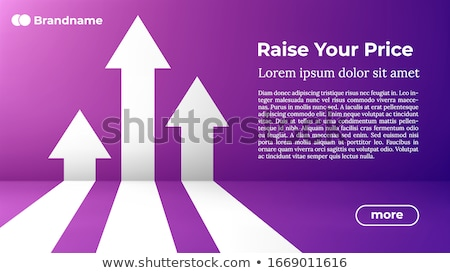 Rise Your Price - Web Template In Trendy Colors Foto stock © Tashatuvango