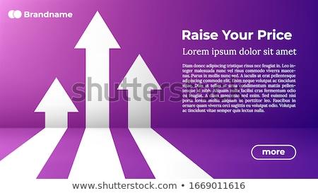 Rise Your Price - Web Template in Trendy Colors. Stock photo © tashatuvango