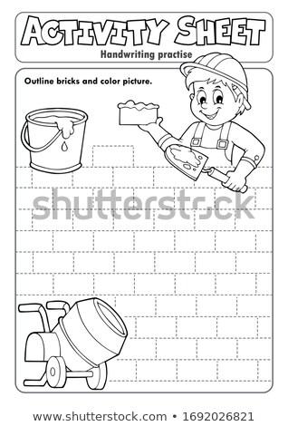 Actividad hoja escritura pared arte educación Foto stock © clairev