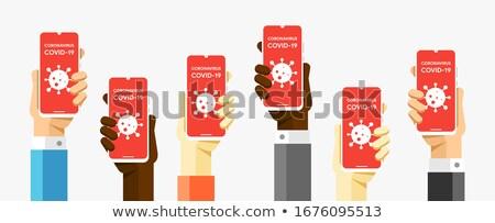 Smartphone humaine mains épidémie tous Photo stock © karetniy
