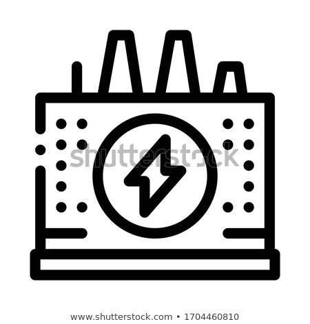 power station icon vector outline illustration Stock photo © pikepicture