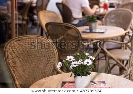 стульев ресторан Бар Председатель линия Сток-фото © Bananna
