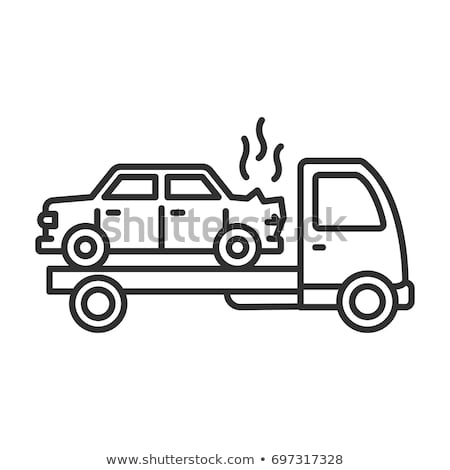 Towing Broken Car Icon Vector Outline Illustration Stock photo © pikepicture