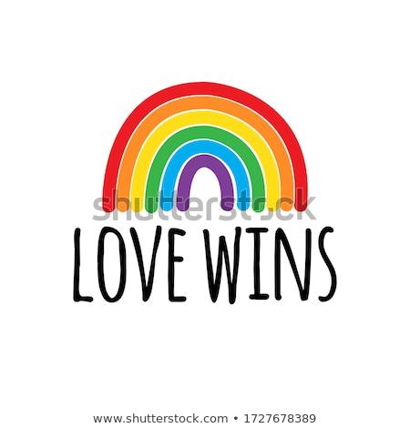 Liefde regenboog geslacht gelijkheid vector vrede Stockfoto © beaubelle