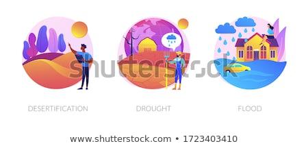 Susza streszczenie ekstremalnych pogoda warunek erozja Zdjęcia stock © RAStudio