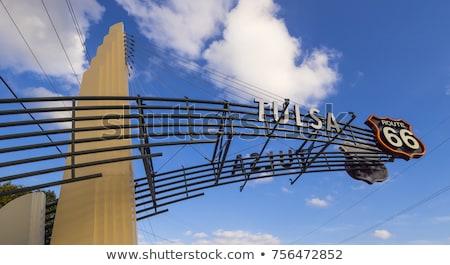 Оклахома шоссе знак зеленый США облаке улице Сток-фото © kbuntu