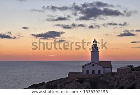 Halászat alkonyat hajnal Mallorca Spanyolország tengerpart Stock fotó © godfer