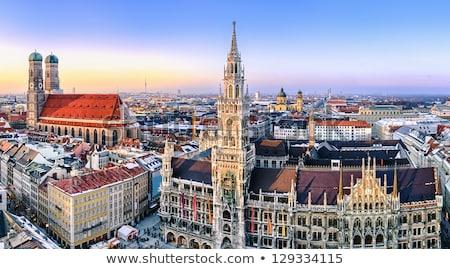 Munich Alemania árbol de navidad frente edificio ciudad Foto stock © Forgiss