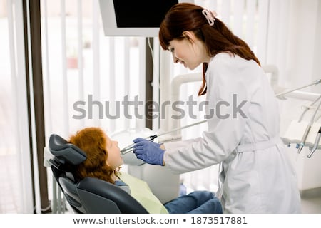 lány · gyermek · fogfájás · fehér · fogorvos · fájdalom - stock fotó © paha_l