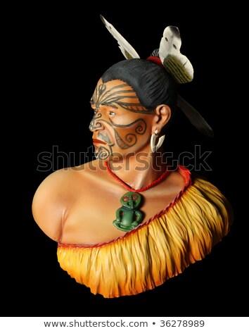 ニュージーランド ネイティブ チーフ 入れ墨 顔 実例 ストックフォト © Stocksnapper
