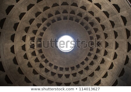 roman pantheon dome with light stock photo © searagen