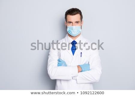 göz · doktoru · doktor · kafkas · erkek · doktor · gözlük - stok fotoğraf © kurhan