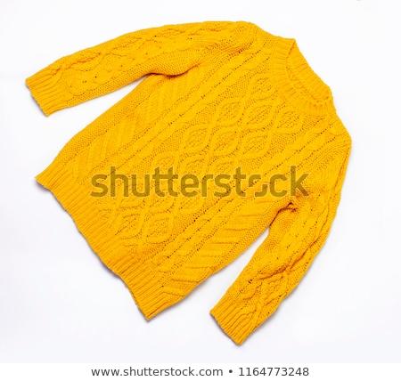 Stylish colorful sweaters on a white. Stock photo © lypnyk2