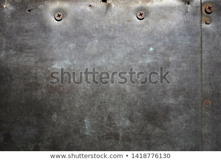 háttér · rozsdás · öreg · fémes · fal · barna - stock fotó © dundanim
