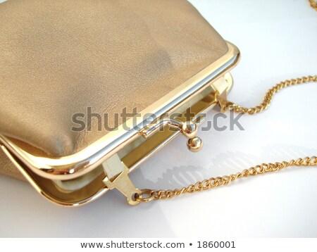 ショッピングバッグ 孤立した 白 縞模様の ファッション ストックフォト © jaykayl