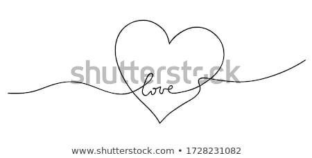szeretet · szívek · minta · illusztráció · piros - stock fotó © BarbaRie