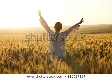 Stok fotoğraf: Mutlu · kadın · tadını · çıkarmak · güneş