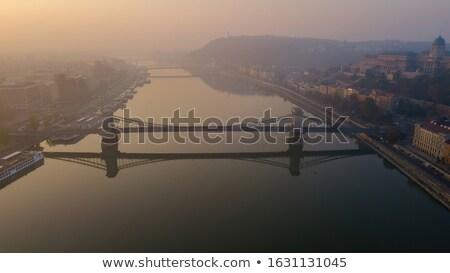 The Szechenyi Bridge early in the morning. stock photo © lithian