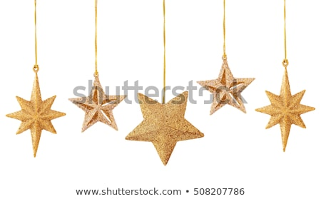 star · vorm · christmas · ornament · goud · kleur - stockfoto © 3523studio