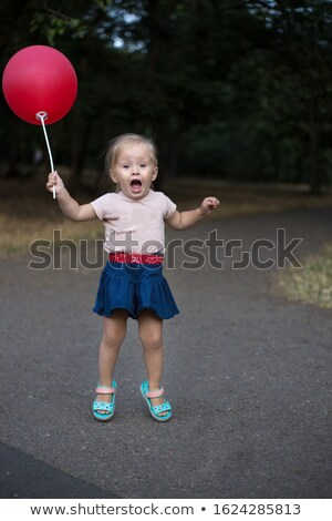 ストックフォト: 幸せ · ブロンド · デニム · スカート · 画像 · 白