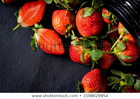 Stock fotó: Frissen · eprek · zöld · eper · organikus · tart