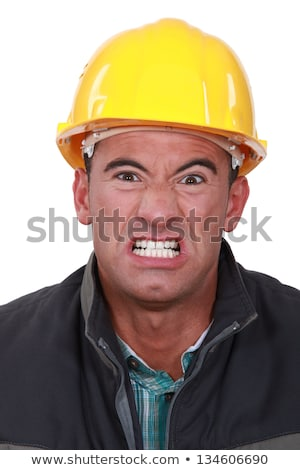 Angry builder grimacing Stock photo © photography33