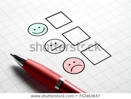 анкета · Компьютерная · мышь · онлайн · голосование · белый - Сток-фото © devon