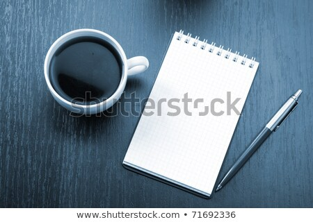 note card pen and coffee cup stock photo © smoki