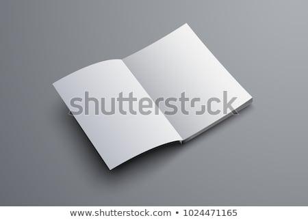 Foto stock: Revista · primeiro · página · isolado · branco
