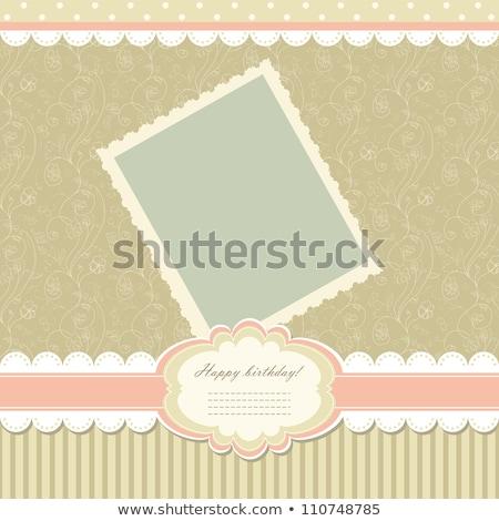 floral greeting card eps 8 stock photo © beholdereye
