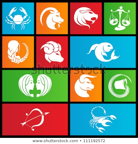 Metro style zodiac star signs Stock photo © cidepix