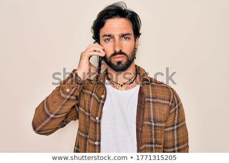 Boos jonge man hand palm teken manager Stockfoto © photography33