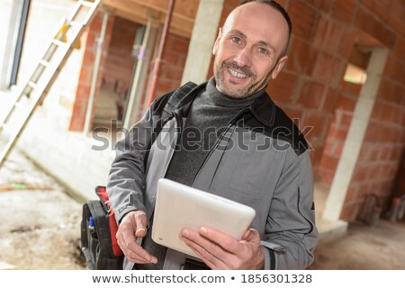 Two electrician about to start work Stock photo © photography33