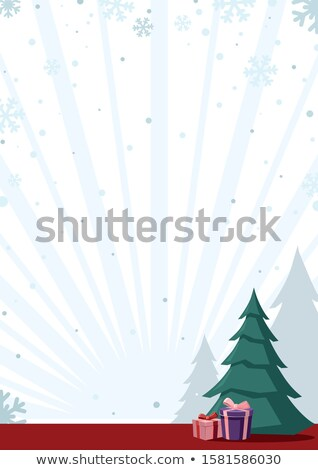 Abstract winter vector background with plenty of snowflakes. Stock photo © lenapix