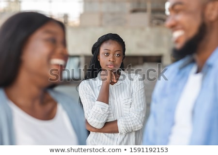 couple in love and jealous woman in background stock photo © photography33