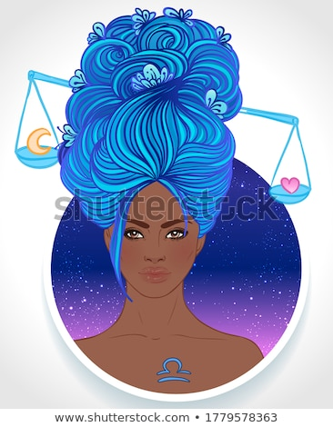 woman libra sign for coloring stock photo © izakowski