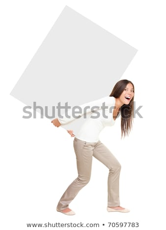 Young girl carrying at sign Stock photo © photography33