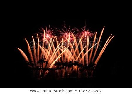 firework streaks in the night Stock photo © Aikon