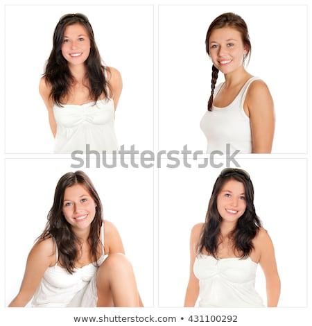 portrait of the young beauty woman. Isolated 4 stock photo © acidgrey