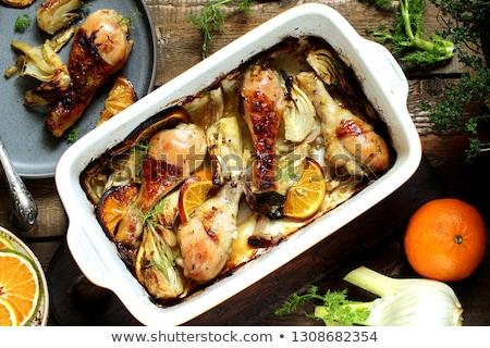 Delicioso carne marrom molho comida Foto stock © samsem