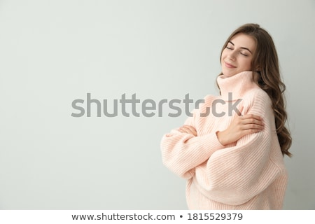 Woman wearing comfortable winter jumper Stock photo © photography33