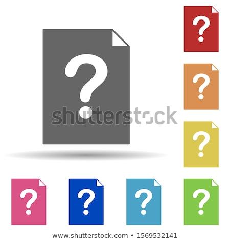 kék · mappa · piros · kérdés · felirat · izolált - stock fotó © tashatuvango