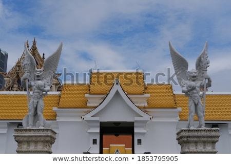 Taş kapı bekçi Bangkok Tayland zengin Stok fotoğraf © pzaxe