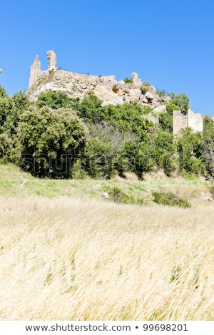 old ruined Vernegues, Provence, France Stock photo © phbcz