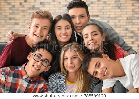 группа друзей образование портрет мальчика Сток-фото © photography33