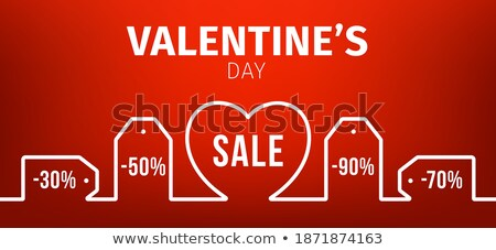 Announcement Coupon With Red Hearts Stock photo © adamson