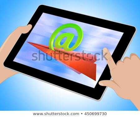 felirat · internet · posta · bejövő · üzenetek · mutat · kommunikáció - stock fotó © stuartmiles