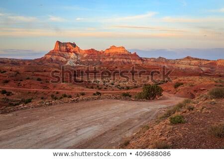 Estrada de terra surpreendente blue sky Foto stock © aetb