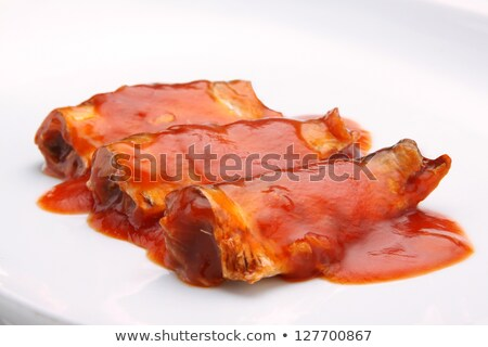 Tinned Sardines In Tomato Sauce  Stock photo © saddako2