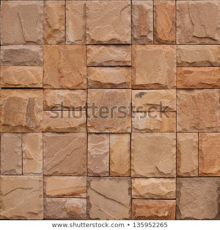 Zandsteen naadloos textuur oppervlak muur abstract Stockfoto © tashatuvango